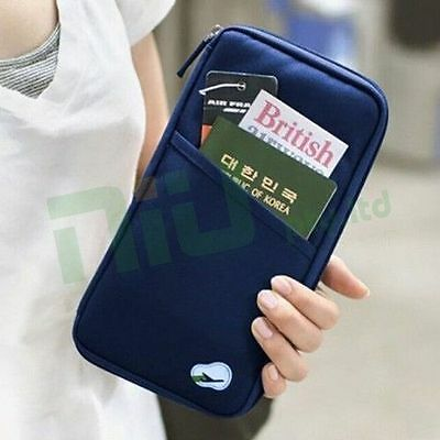 OZ Travel Wallet Passport Holder Document Organiser Bag Ticket Credit Card Case