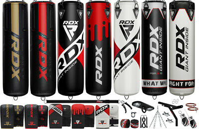 RDX 4 5 ft Filled Heavy Punch Bag Kickboxing Set MMA Pad, Free Standing Punching