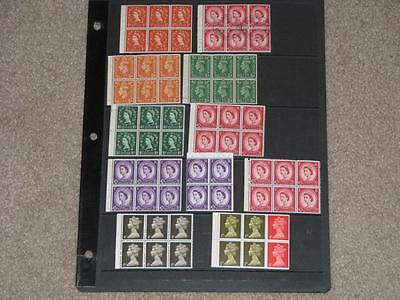 Great Britain Booklet Panes MNH (1 used)