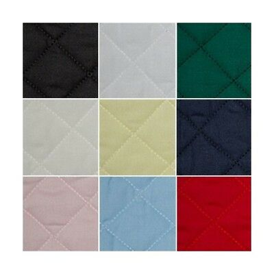 Quilted Polycotton Fabric Nylon Backed Quilting Padded Diamond