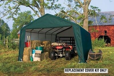 ShelterLogic Replacement Cover Kit 12x20 Peak Green 90516 for 62691,62791,62678