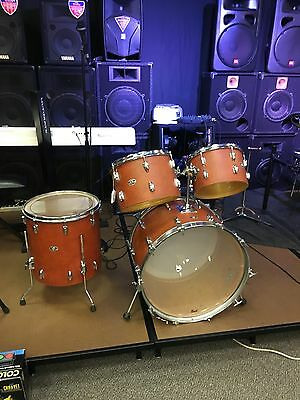 1975 Slingerland Cordova Drum Set in Orange Naugahyde GREAT CONDITION!