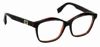 23bc208c2f Fendi Eyeglasses FF 0093 D5T Frame Authentic New 54mm Gray Spotted Havana  New