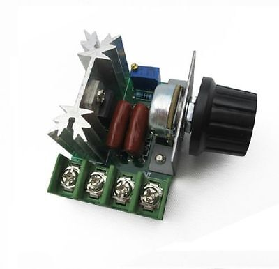 1PCS 220V 2000W Speed Controller SCR Voltage Regulator Dimmers Thermostat