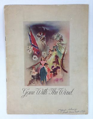 Vintage 1940 Gone With The Wind Collectible Original Movie Program