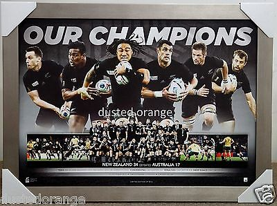 All Blacks Rugby 2015 World Cup Limited Edition Sportsprint Framed New Zealand