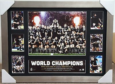 All Blacks Rugby 2015 World Cup Champions L/e Print Framed New Zealand Xmas Gift