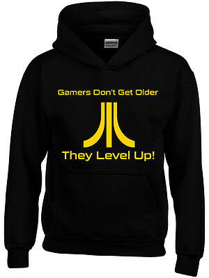Atari Retro Gamer Inspired Boys Girls Kids Funny  Geek Hoodie