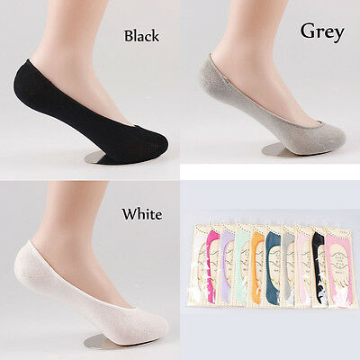 3 Pairs WOMEN Ladies Bamboo No Show FASHION LOW CUT INVISIBLE BOAT SOCKS SOL01