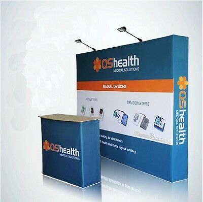 New 10ft Pop up stand / banner Fabric Tension Trade Show Display Wall Booth