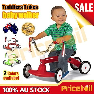 OZ Kids Balance Bike Toddler Baby Slider Push Walk Learning Ride On Scooter Toy