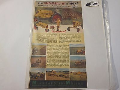 1948 Minneapolis Moline MM Universal R Tractor Magazine Ad LOTS More Listed!