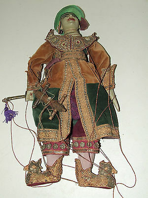 Antique Ornate Hand Crafted Burmese Marionette Yoke Thé Puppet Doll -The Warrior
