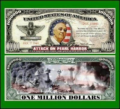 15 Factory Fresh Novelty Pearl Harbor Million Dollar Bills