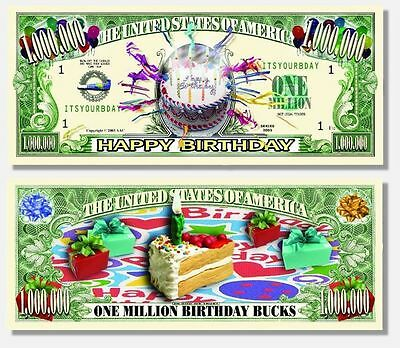15 Factory Fresh Novelty Happy Birthday Million Dollar Bills