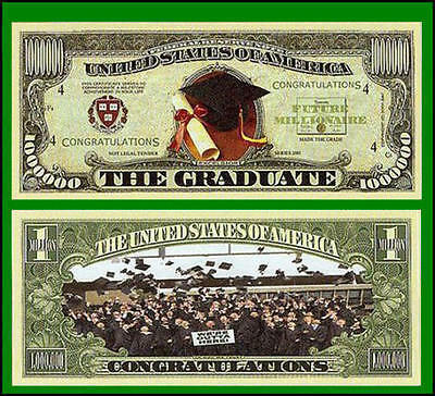15 Factory Fresh Novelty Graduation Million Dollar Bills