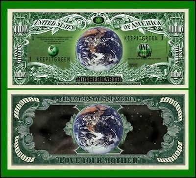 5 Factory Fresh Novelty Mother Earth Million Dollar Bills
