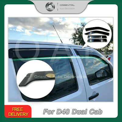 Premium Weather Shields Window Visor Weathershields Nissan Navara D40 06-15 SJ