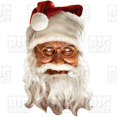 SANTA CLAUS FATHER CHRISTMAS Card Face Mask BIG A3 or Lifesize Party office Xmas