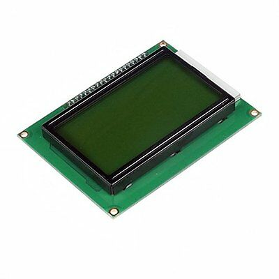 5PCS ST7920 5V 12864 128x64 Dots Graphic LCD Yellow green Backlight