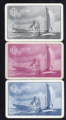 Vintage Swap/Playing Cards - Ships x 3