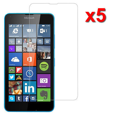 5X Crystal Clear LCD Screen Protector Film Guard For Microsoft Lumia 640 LTE