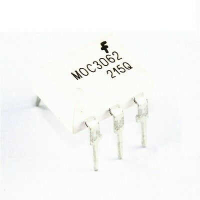 10Pcs Moc3062 Optoisolator 7.5Kv Triac 6Dip Fsc New