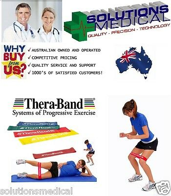Theraband Exercise Stretch Resistance Loops Thera-Band 4 Colours