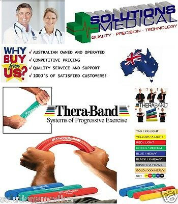 Theraband Exercise Stretch Resistance Flex Bars Thera-Band 4 Colours