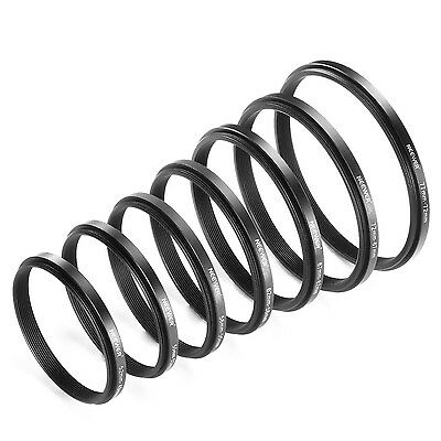 Neewer 7 Pieces Step-down Adapter Ring Set Made of Premium Anodized Aluminum