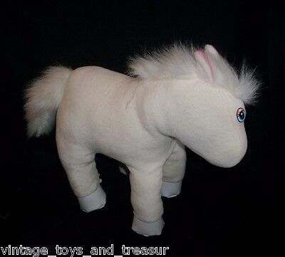 Vintage 1993 Tyco Love N Hug Horse White Stuffed Animal Plush Toy Makes Noise
