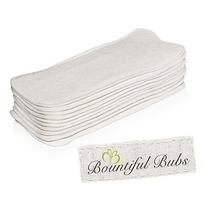 Newborn Bamboo Nappy Inserts, 3 Layers, Bountiful Bubs