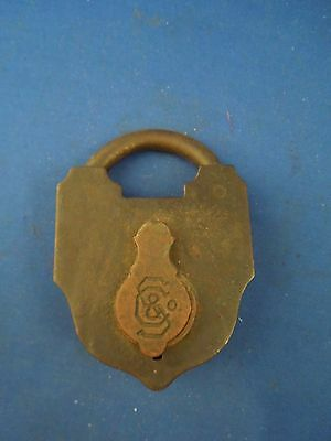 Antique S & Co Sargent & Company New Haven CT Padlock No Key
