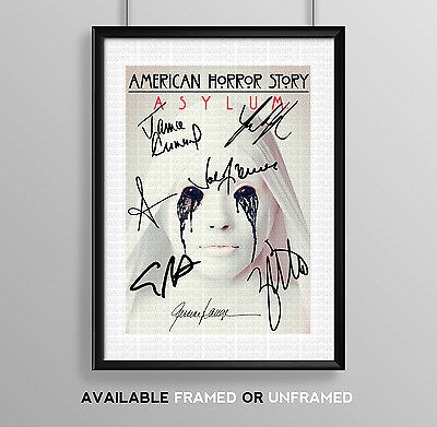 American Horror Story Asylum Cast Signed Autograph Print Poster Photo Tv Season