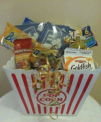 Easter Mothers Dad Day Birthday Teen Graduation Movie Night Popcorn Gift Basket