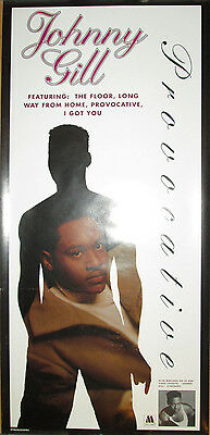 Motown promotional poster EX 17x34 1993 R/&B JOHNNY GILL Provocative