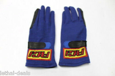 RCI RACE GLOVES Nomex Double Layer Blue SFI 3.3/5 Drag Auto Racing PRO XL NEW