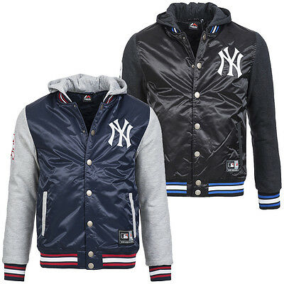 New York Yankees Majestic MLB Beeson Mix Fabric Jacket Baseball Jacke XS-2XL neu