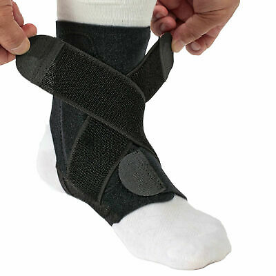 2 X Elastic Adjustable Sports Compression Ankle Brace Support Stabilizer Foot