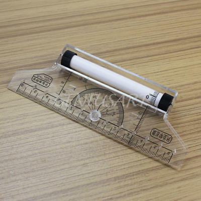 Plastic Metric Squares Angles Parallel Multi-purpose Drawing Rolling Ruler Tool