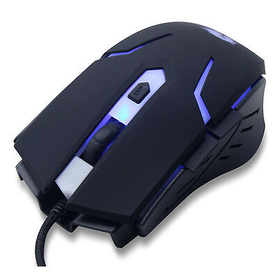 PowerCool GM001 Gaming Mouse with Blue Led USB - 1.5M Braided Cable
