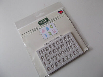 Katy Sue Mini Domed Alphabet And Number Silicone Mould, New,  Cake Decorating.
