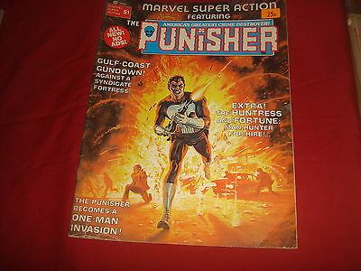 MARVEL SUPER ACTION featuring THE PUNISHER #1 Curtis Marvel Magazine 1976 VG