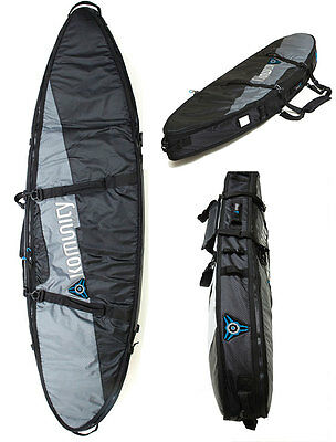 "Travel Double Surfboard Board Bag 6'0"" Free FCS Key+Wax Comb + Free Shipping"