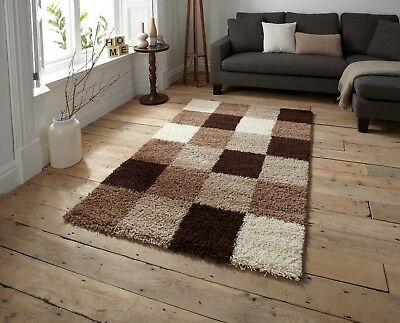Super Shag 5 Thick Soft Modern Patterned 5cm Pile Rug Carpet Non Shed X Large