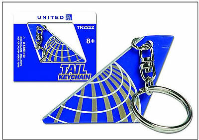 Keychain Tail Section United Airlines UAL Continental Merger MINT Key Chain