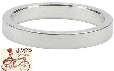 """Wheels Manufacturing 5Mm 1-1/8"""" Silver Spacers Bike Headset Part-Bag Of 10"""