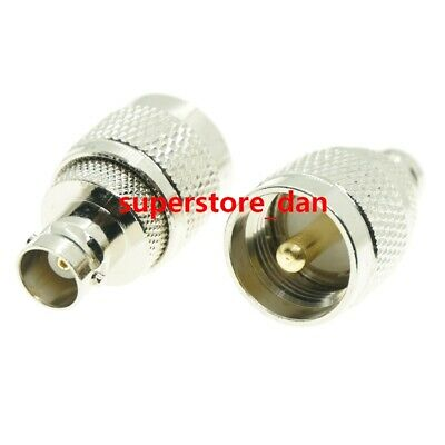 1Pcs UHF male PL259 PL-259 plug to BNC female jack RF coaxial adapter connector