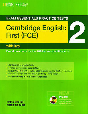 Cengage Exam Practice Tests CAMBRIDGE ENGLISH FIRST FCE 2 w Key&DVD-ROM 2015 New