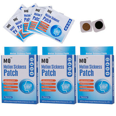 30 Patches/3Boxs Scopolamine Patch Anti-Nausea Motion Sickness Relief Best Price